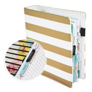 Heidi Swapp Memory Planner Gold Stripes - Undated